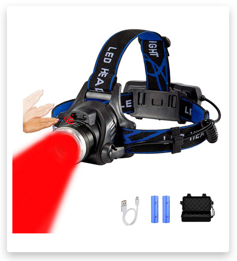 Topme Red Light Headlamp USB Rechargeable