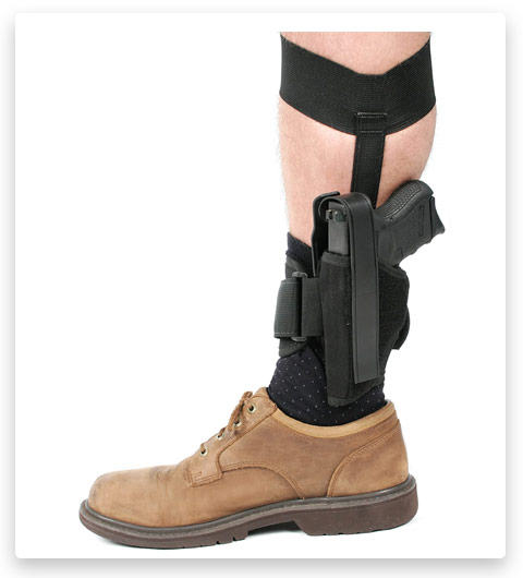 BLACKHAWK Ankle Holster, Black/Size 01, Left Hand