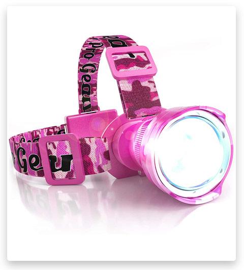 Outdoot Pro Gear Pink Camo LED Headlamp