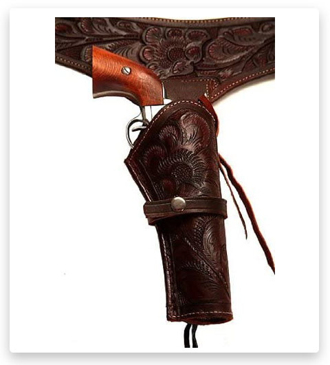 38/357 Caliber Brown Leather Left-Handed Gun Holster