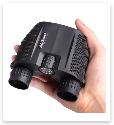 SkyGenius 10x25 Compact Binoculars for Adults