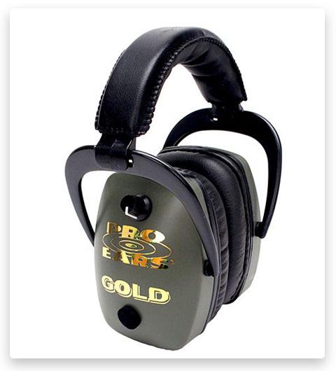 Pro-Ears Pro Slim Gold Electronic Ear Muffs Up