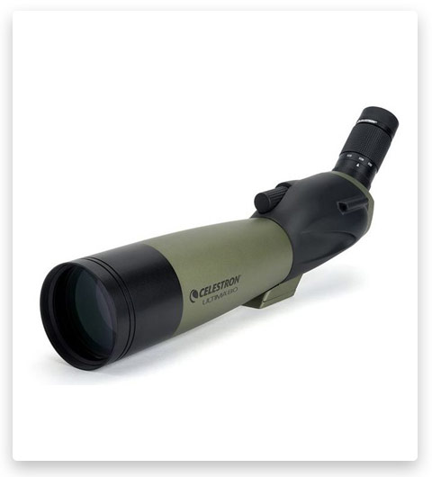 Celestron Ultima 80 Spotting Scope with 20-60x Zoom Eyepiece & Tripod