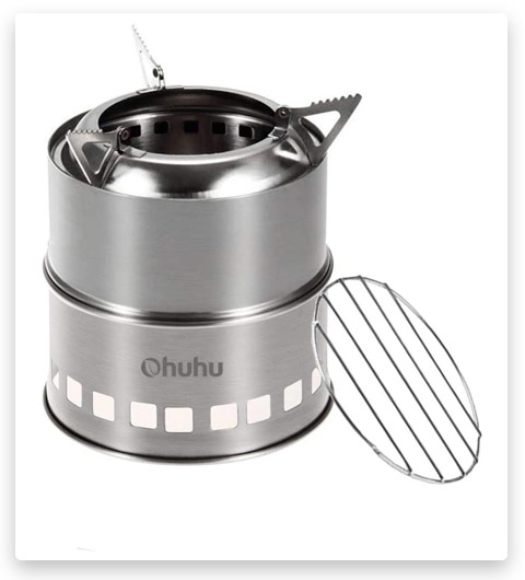 Camping Stove Ohuhu Stainless Steel Backpacking Stove