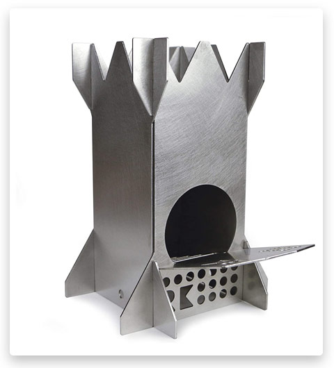 Rocket King Stainless Steel Wood Burning Camping Stove