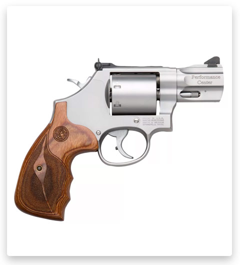Smith & Wesson Performance Center Model 686 Custom Wood Grip Single/Double Action Revolver