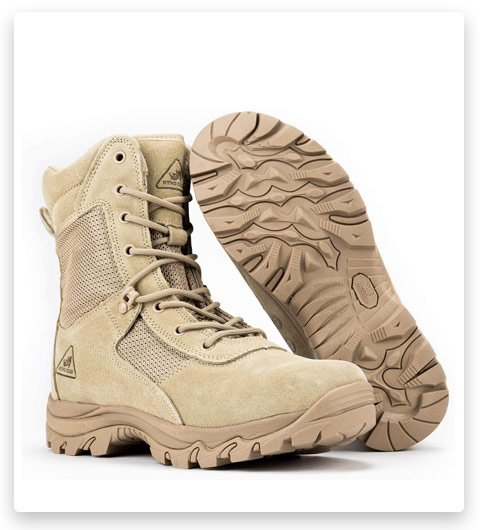 RYNO GEAR Tactical Combat Boots (Coolmax Lining)