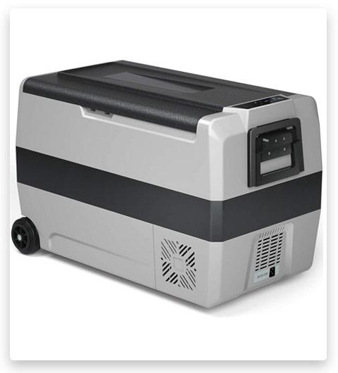 COSTWAY Portable Car Freezer, 53-Quart Compact RV Refrigerator Cooler