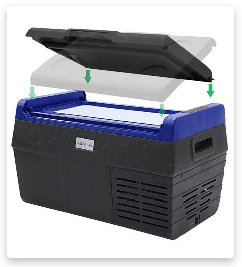Set power EA20 21 Quarts Portable Freezer Fridge 12V Cooler