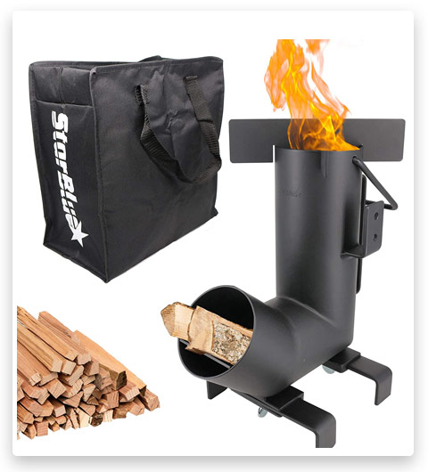 StarBlue Camping Rocket Stove with Free Carrying Bag