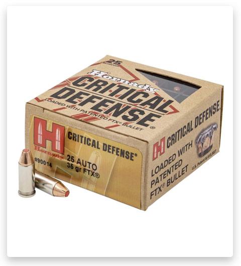 Hornady Critical Defense .25 ACP 35 Grain