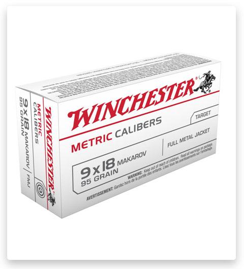 Winchester USA HANDGUN METRIC CALIBERS 9x18mm Makarov
