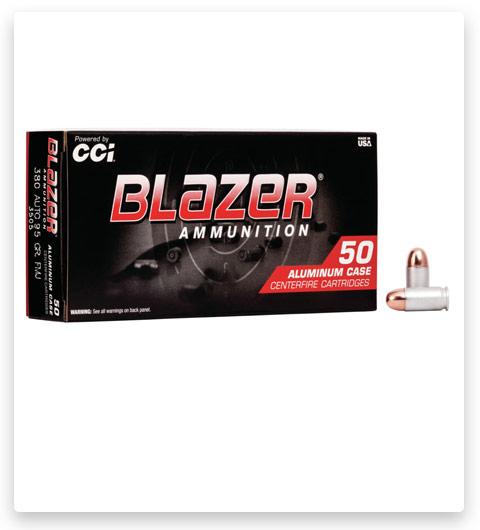 10 CCI Blazer Aluminum 380 ACP Ammo 95 grain