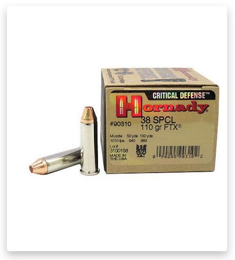 Hornady Critical Defense 38 Special Ammo 110 Grain