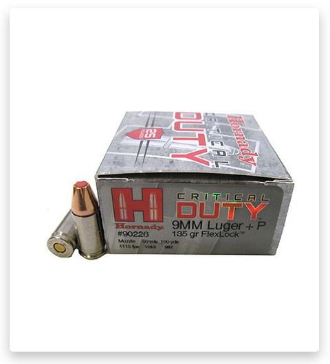 Hornady Critical Duty 9mm Luger 135 Grain