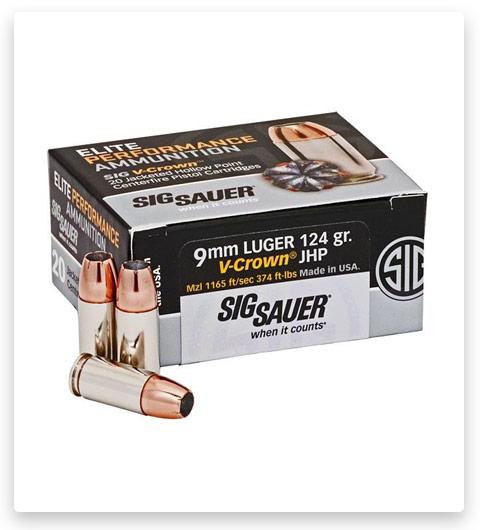 Sig Sauer Elite V-Crown 9mm Luger 124 Grain