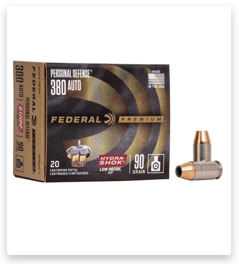 Federal Premium Centerfire Handgun 380 ACP Ammo 90 grain