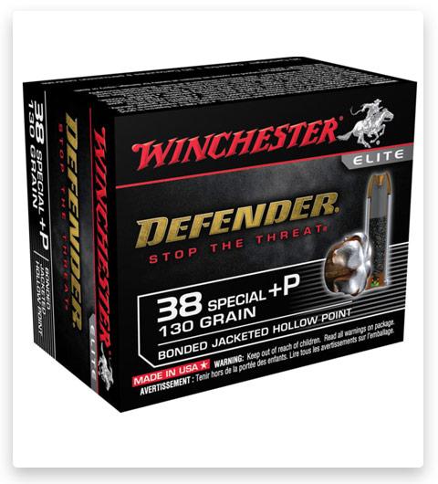 Winchester DEFENDER HANDGUN 38 Special +P Ammo 130 grain