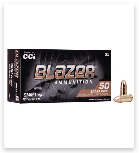 CCI Ammunition Blazer Brass 9mm Luger 124 grain