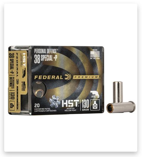 Federal Premium Centerfire Handgun 38 Special +P Ammo 130 grain