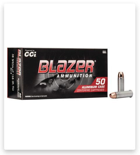 CCI Ammunition Blazer Aluminum 38 Special +P Ammo 158 grain