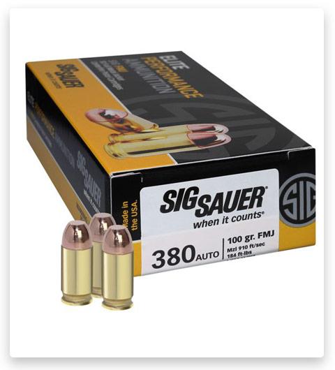 Sig Sauer Elite Performance 380 ACP Ammo 100 grain