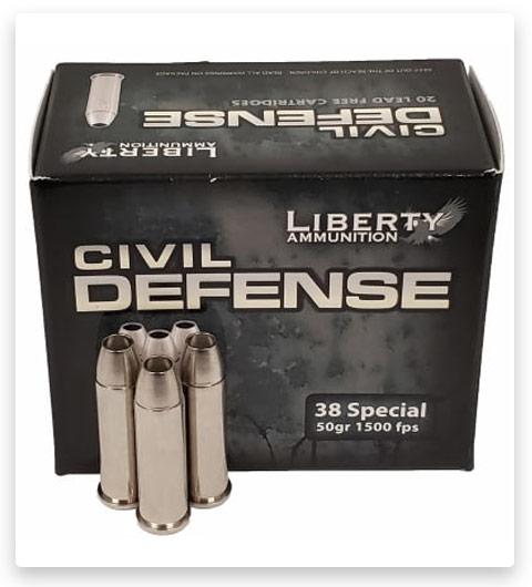 Liberty Civil Defense 38 Special Ammo 50 grain