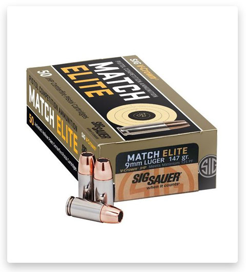 Sig Sauer V-Crown Ammo 9mm Luger 115 Grain