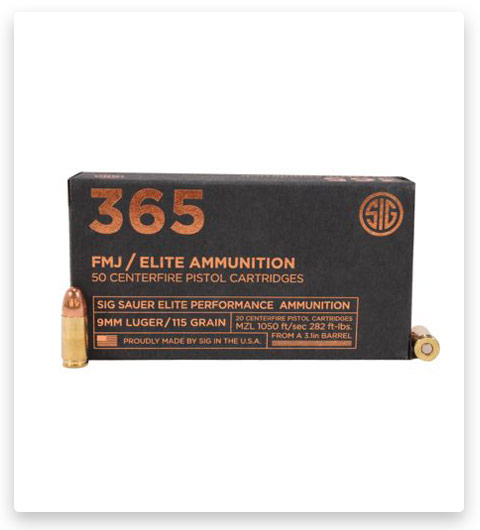 Sig Sauer Elite Ball P365 9mm Luger 115 Grain