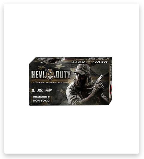 HEVI-Shot HEVI-Duty 9mm Ammo 100 Grain