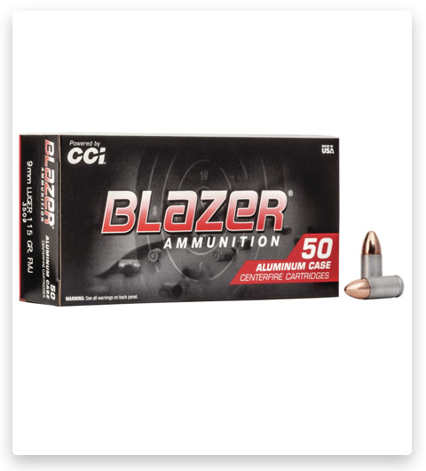 CCI Ammunition Blazer Aluminum 9mm Luger Ammo