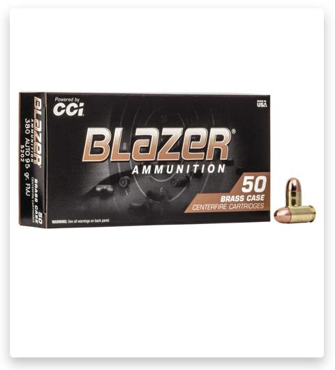 CCI Blazer Brass 380 ACP Ammo 95 grain