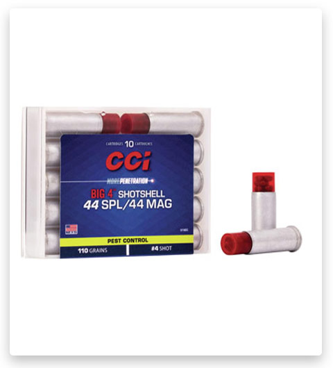 CCI Pest Control Big 4 Shotshell 44 Special Ammo 110 grain