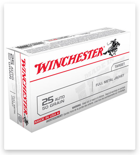 Winchester USA HANDGUN .25 ACP 50 grain