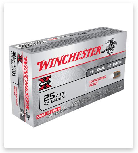 Winchester SUPER-X HANDGUN .25 ACP 45 grain