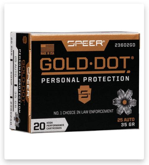 Speer Gold Dot .25 ACP 35 grain
