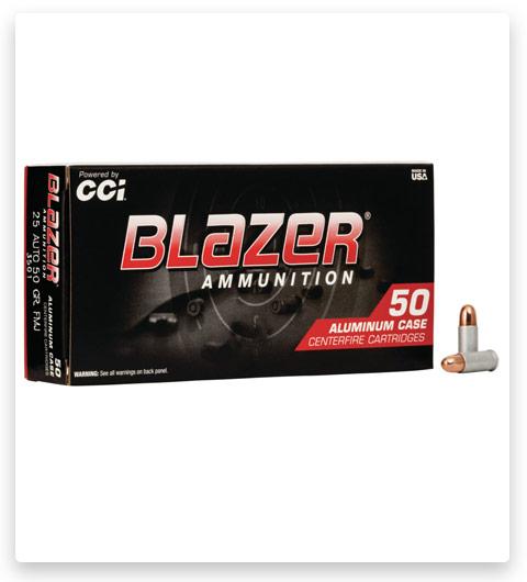 CCI Ammunition Blazer Aluminum .25 ACP 50 grain