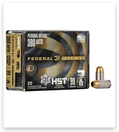 Federal Premium Centerfire Handgun 380 ACP Ammo 99 grain