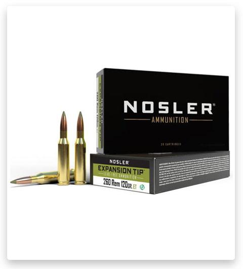Nosler 260 Remington Ammo 120 Grain