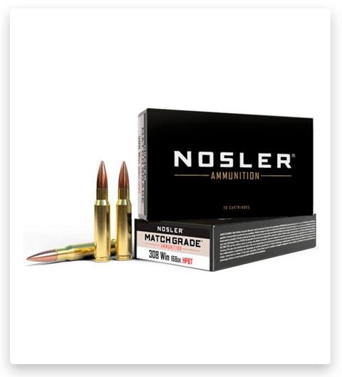 Nosler 308 Winchester Ammo 168 Grain