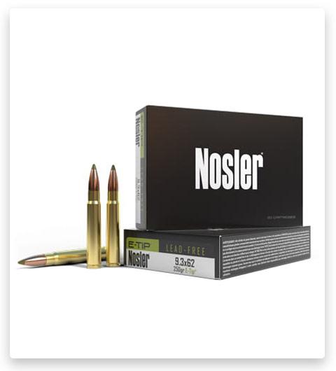Nosler 9.3x62mm Mauser Ammo 250 Grain