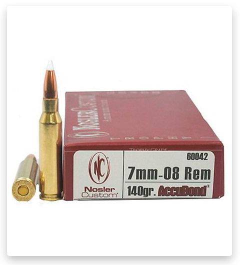 Nosler Trophy Grade 7mm-08 Remington Ammo 140 Grain