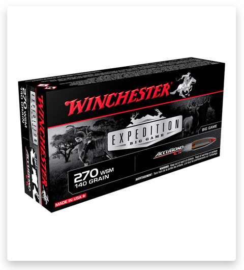 Winchester S270WSMCT Expedition Big Game 270 WSM Ammo 140 Grain