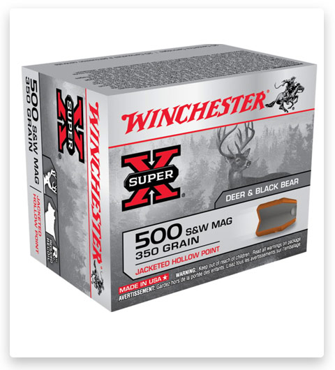 Winchester SUPER-X HANDGUN 500 S&W Magnum Ammo 350 grain