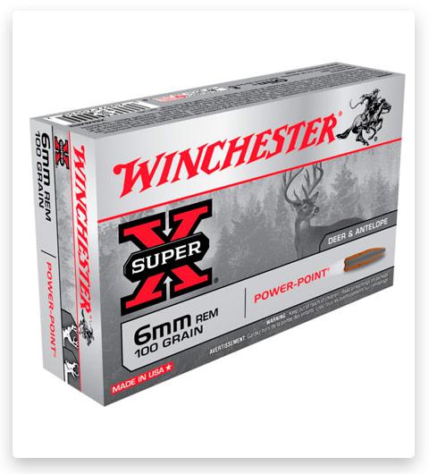 Winchester SUPER-X RIFLE 6mm Remington Ammo 100 grain