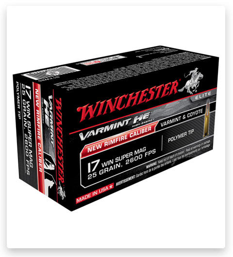 Winchester VARMINT HE 17 Winchester Super Magnum Ammo 25 grain