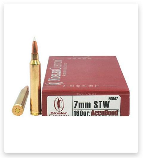 Nosler 7mm Winchester Short Magnum AccuBond Ammo 160 grain