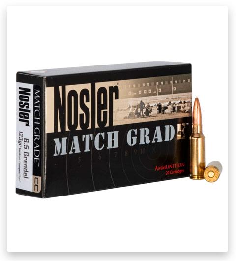 Nosler Match Grade 6.5mm Grendel Ammo 123 Grain