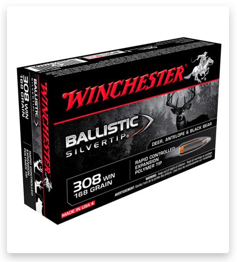 Winchester BALLISTIC SILVERTIP 308 Winchester Ammo 168 grain
