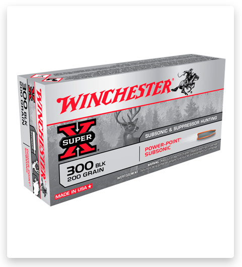 Winchester SUPER X SUBSONIC EXPANDING 300 AAC Blackout Ammo 200 grain